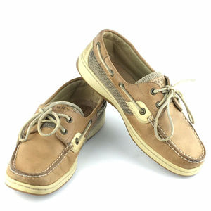 Sperry Top-Sider Boat Deck Tan Leather Shoes 6.5